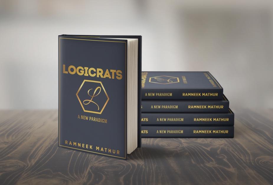 Logicrat - A New Paradigm 3D Standing Stacks Behind Mockup